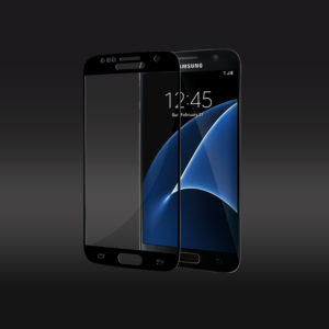 3D Curve Edge to Edge Tempered Glass Screen Protector For Samsung Galaxy S7 - Black