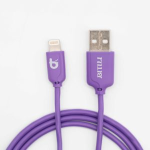 Chameleon Colour Twist Lightning To USB Charge/Sync Cable (1M) - Purple
